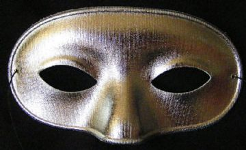 Silver Metallic Domino Mask